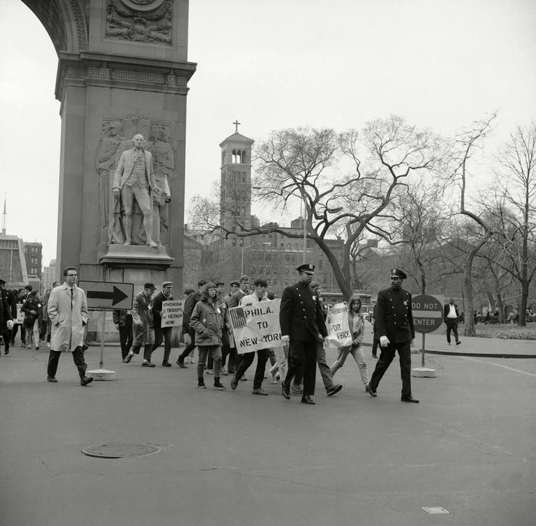 Vietnam War Protests 1966, New York, USA