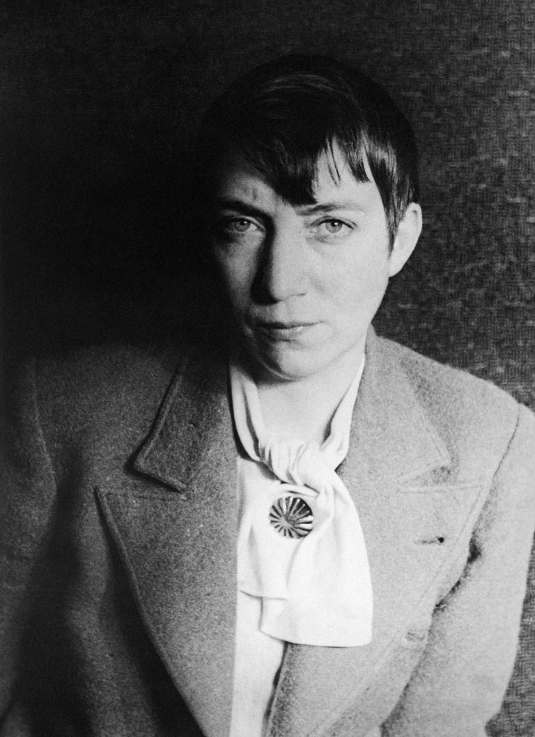Berenice Abbott photographed in 1937 by Carl Van Vechten