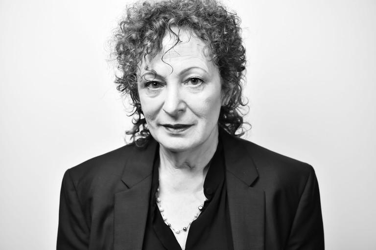 Nan Goldin photographed at TimesTalks 20th Anniversary Festival in New York, April 14, 2018