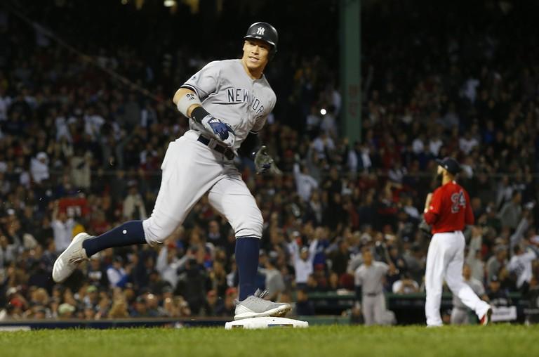 New York Yankees at Boston Red Sox, USA - 06 Oct 2018