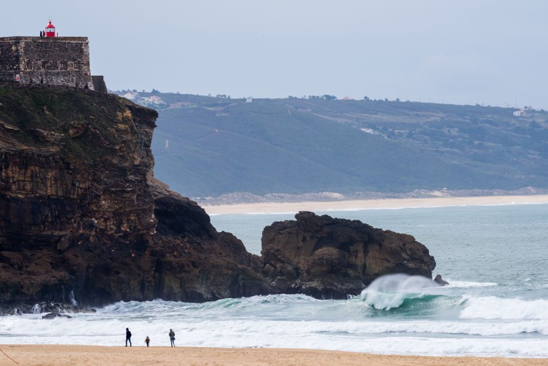 The Praia do Norte (North Beach) is a Portuguese beach located in Nazare, Portugal.