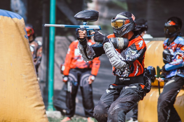 Paintball game in Indonesia