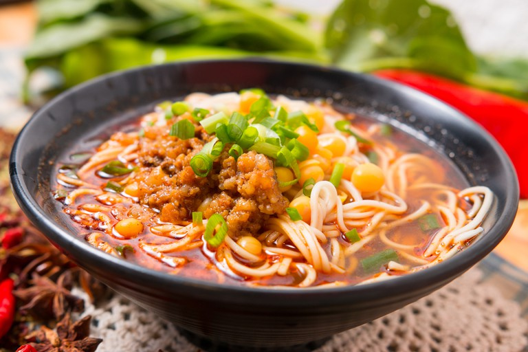 Hand-Pulled noodle, popular in China as fast food.