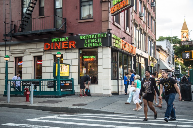 The Waverly Diner in the West Village is open 24/7