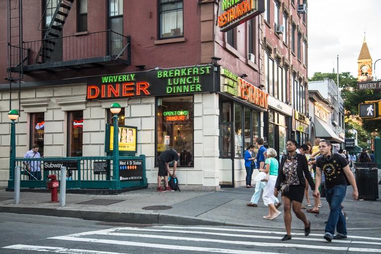 Waverly Diner in the West Village in Manhattan, New York.