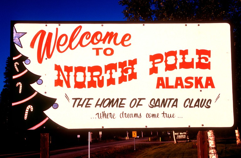 North Pole township Alaska USA where North Pole Christmas Store is open year-round.