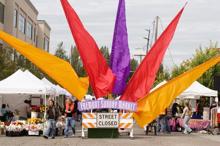 Fremont Sunday Market Seattle, Washington.