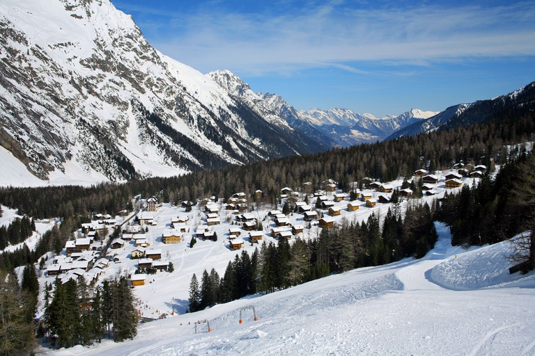 La Fouly village Pays du Saint Bernard, Switzerland.