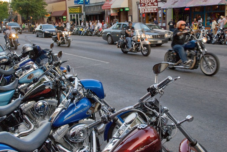 Biker rally on Sixth Street, Austin, Texas