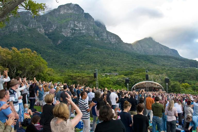 Sunday evening outdoor concert, Kirstenbosch, Cape Town