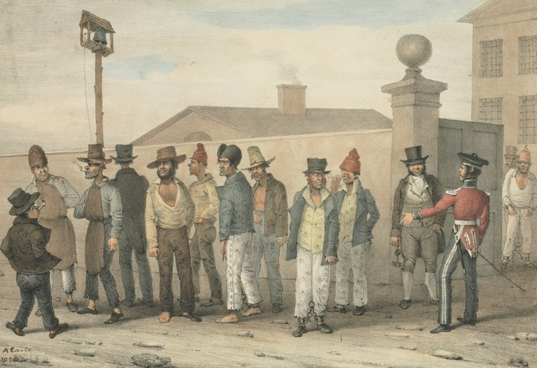 Convict gang in Sydney in the 18th Century © State Library of New South Wales / WikiCommons