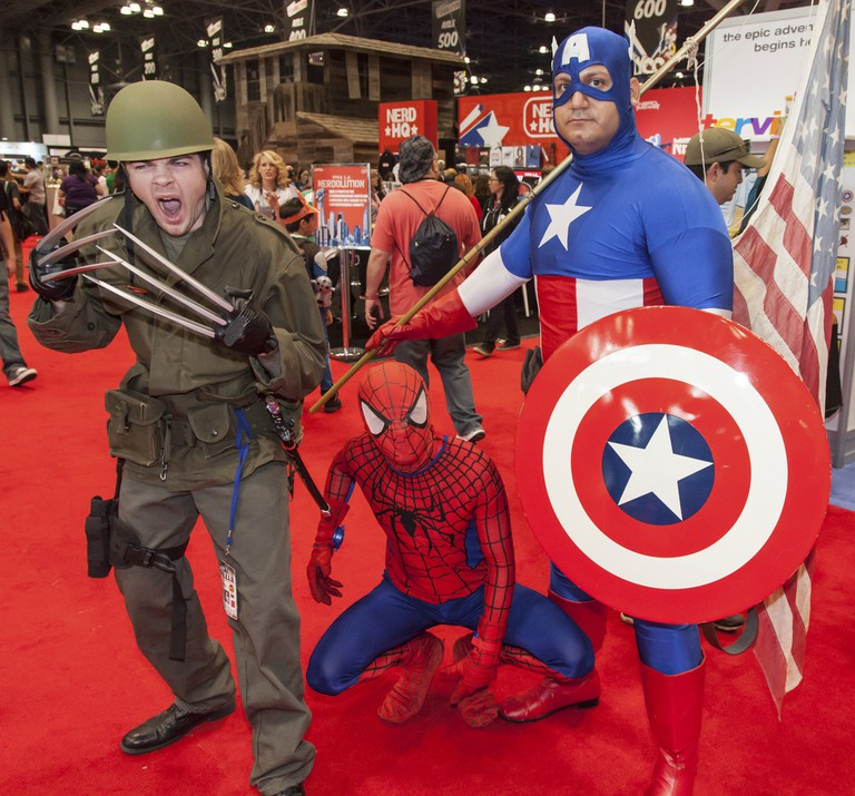 Many people attend New York Comic Con dressed as their favorite superhero