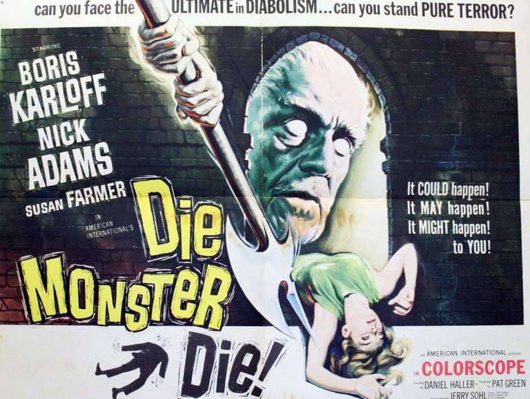 """Die Monster Die!"" a 1965 horror film starring Boris Karloff.. Image shot 1965."