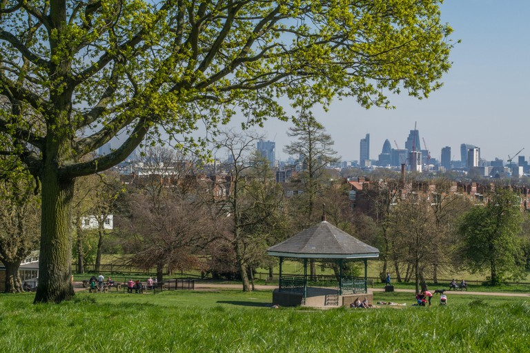 Parliament Hill is on Hampstead Heath in the north of the city