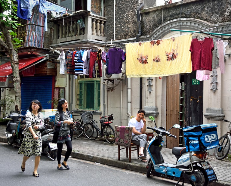 Old Shanghai The narrow lanes that characterise Tianzifang Shikumen Residence The French Concession  Luwan Xuhui District Xintia