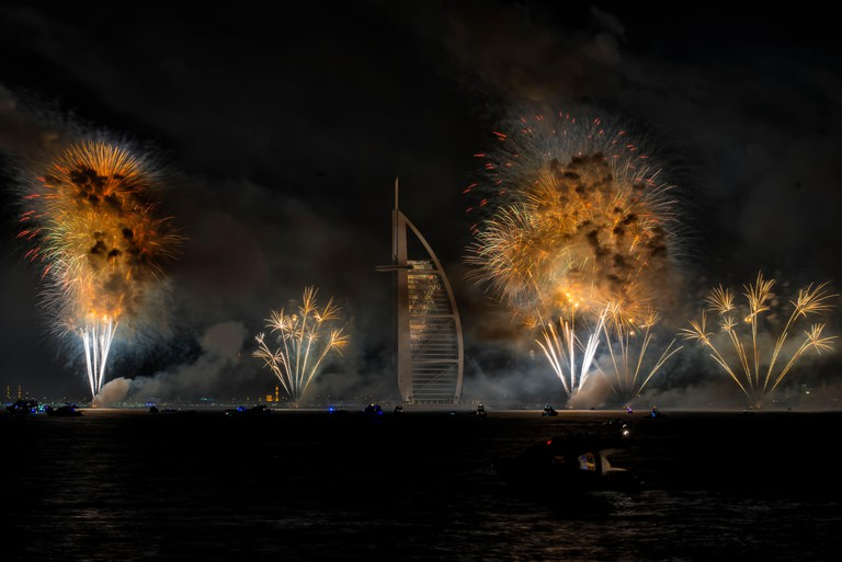 New Year 2015 Fireworks in Dubai, UAE