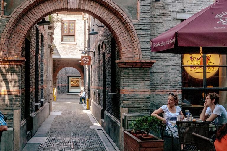 A café in Xintiandi, Shanghai