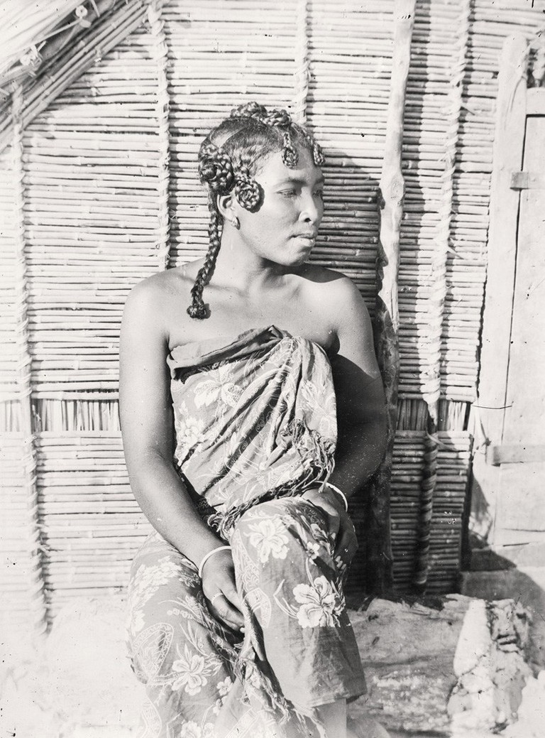 A young Sakalava woman photographed in the early 20th century
