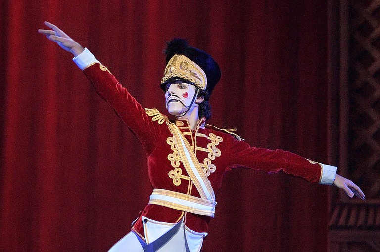 Dancing the role of the Nutcracker requires wearing a mask