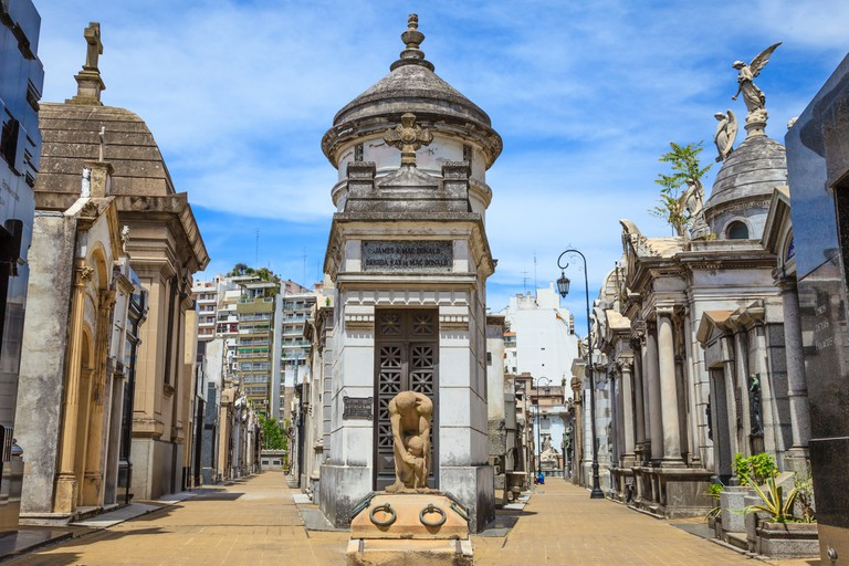La Recoleta Cemetery is the final resting place of many of the wealthiest and most important Argentine historical figures.