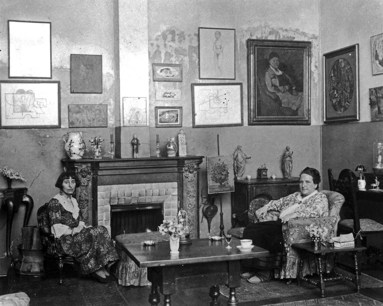 Gertrude Stein (right) and Alice B Toklas, circa the 1940s