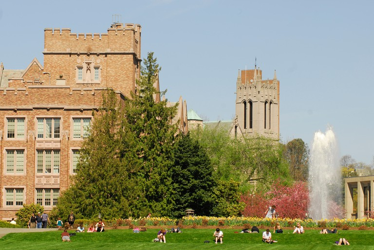 University of Washington college campus in Seattle, Washington.