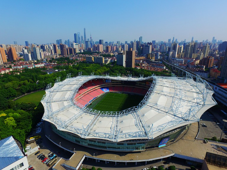 Hongkou Football Stadium in Shanghai