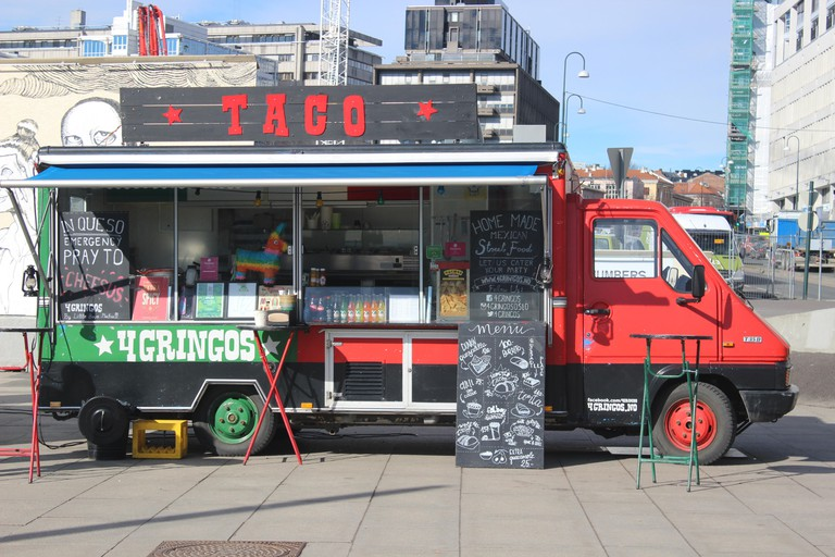 Taco food truck in Oslo, Norway.