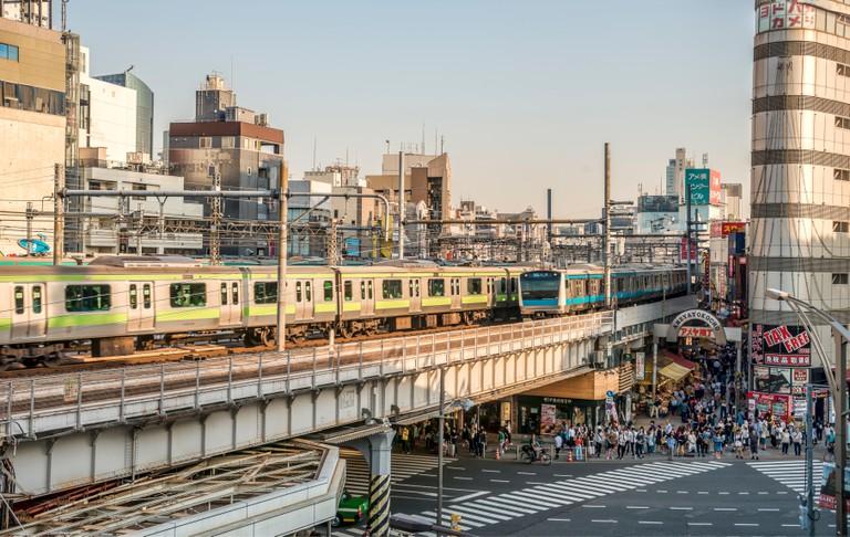 Cityscape at the Ueno Business District, Tokyo, Japan   Strassenszene im Ueno Geschaeftsviertel, Tokyo, Japan
