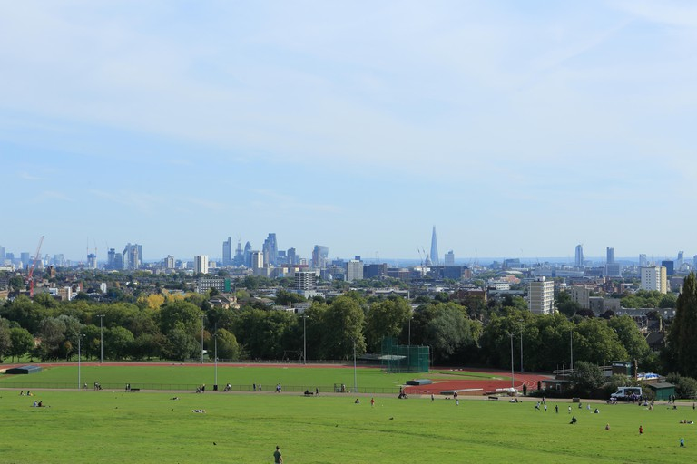 Parliament Hill is a great spot for views of London's skyline