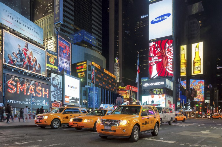Traffic in Times Square, New York City