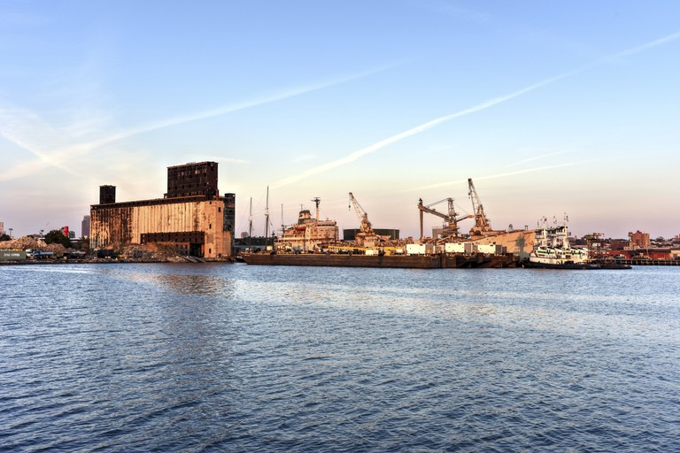The Red Hook Grain Terminal in the Red Hook neighborhood of Brooklyn, New York.