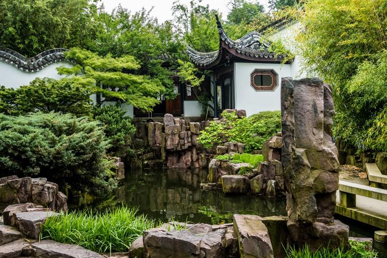 Chinese Scholar Garden, Staten Island, New York, USA.