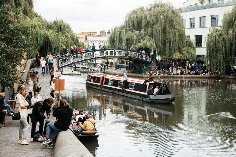 The London Waterbus Company runs hourly trips along Regent's Canal