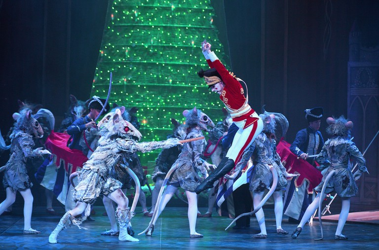 The Mouse King and the Nutcracker battle it out when the clock strikes midnight