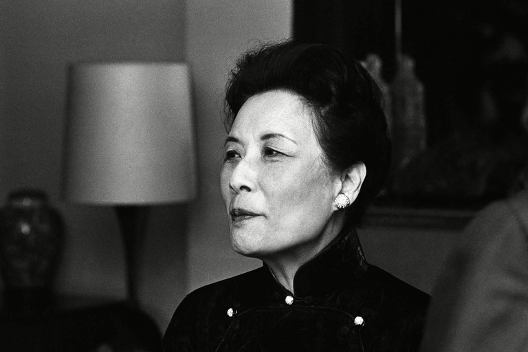 Madame Chiang Kai-shek during a conference in New York City