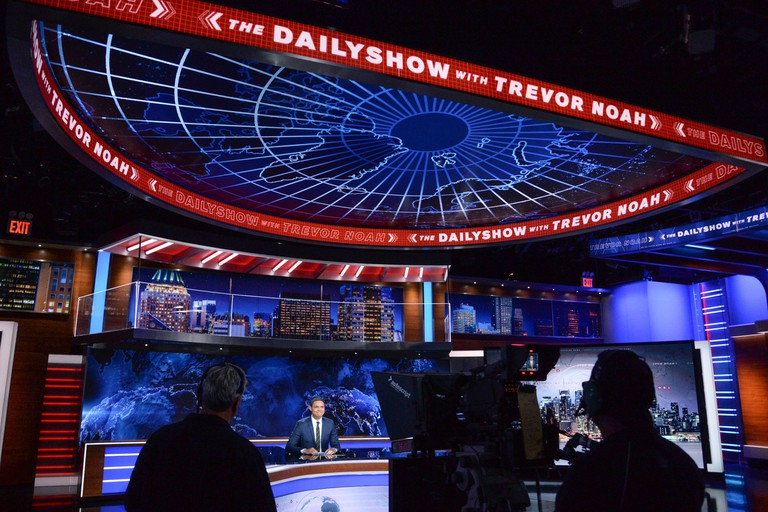 Trevor Noah during a taping of 'The Daily Show'