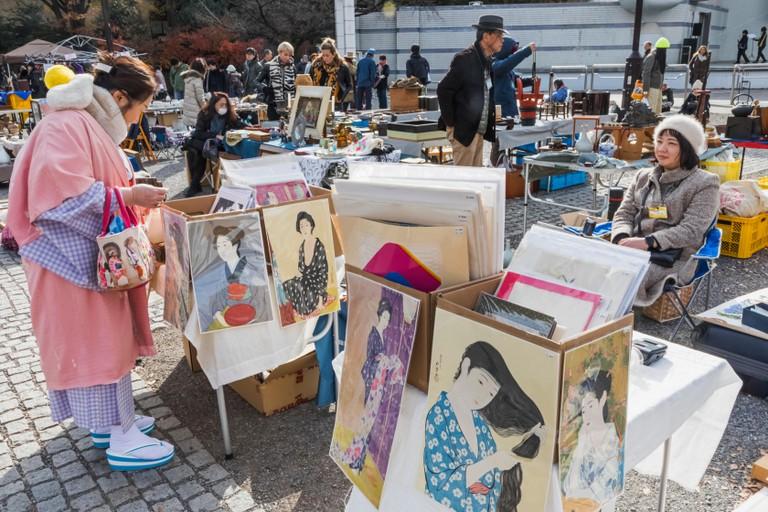 Oedo Antique Market, Yoyogi Park, Tokyo, Japan.