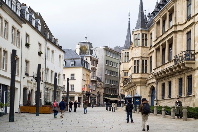 The Rue du Marche-aux-Herbes, Luxembourg.