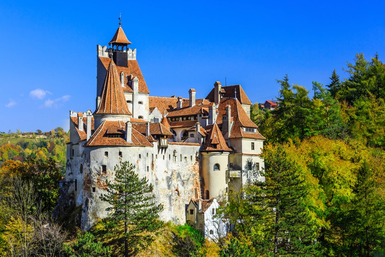 The medieval Castle of Bran in Transylvania, Romania.