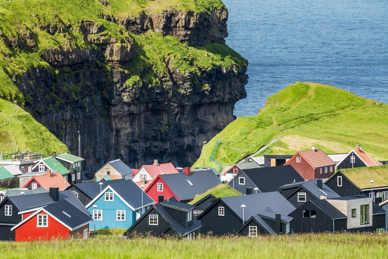 Gjogv, village in the north of Eysturoy, Faroe Islands.