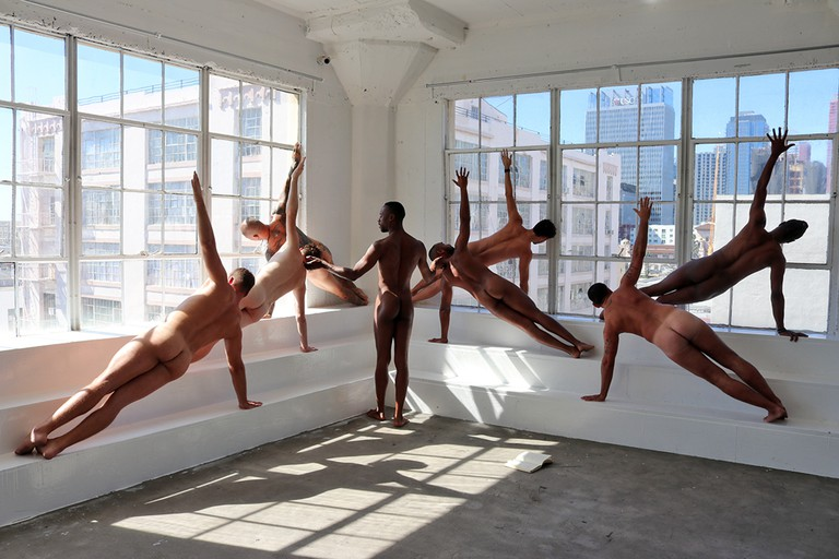 A Naked Yoga Class, Los Angeles, USA. Creative Direction by Brandon Anthony.