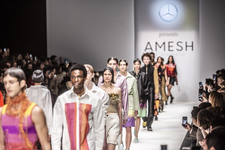 Mercedes-Benz Fashion Week in Berlin Autumn/Winter 2019 marked the first time the designer had brought his work to Germany