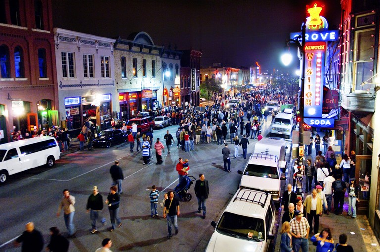 6th Street in Austin TX during SXSW.