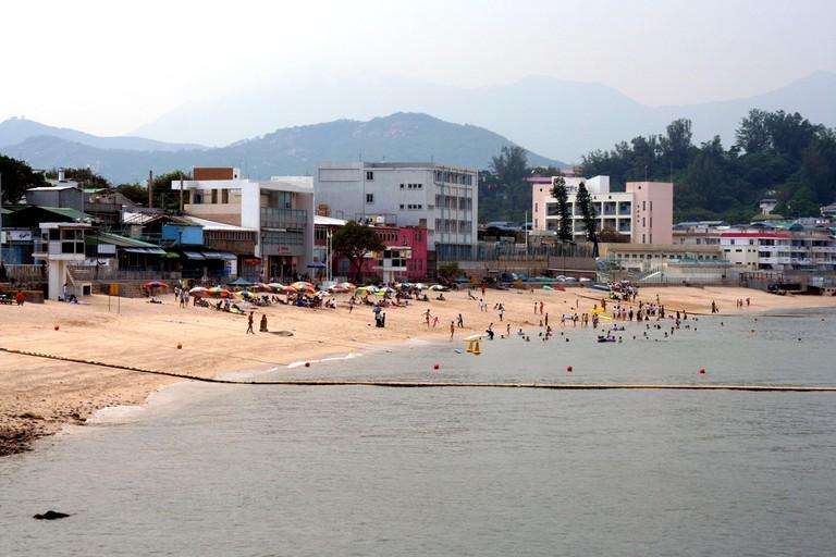 Beach scene on Cheung Chau, Hong Kong.