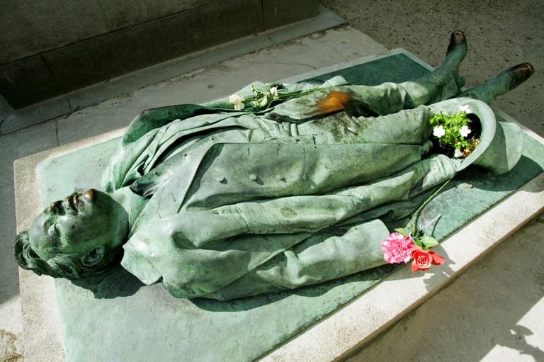 Victor Noir, Pere Lachaise cemetery, Paris, France.