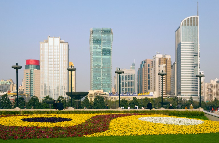 Peoples Square and cityscape, Shanghai, China.