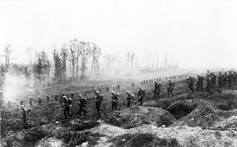 Offensive May 1918 German infantry on the Western Front during World War One, May 1918