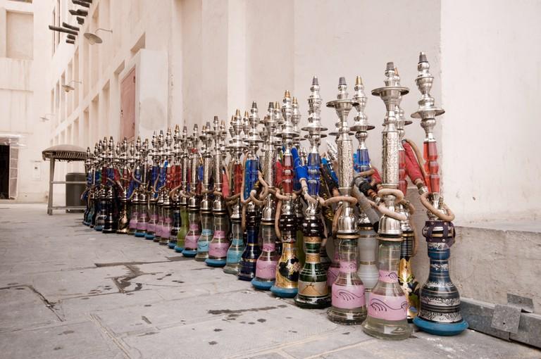 Shisha pipes at Souq Waqif, Doha, Qatar