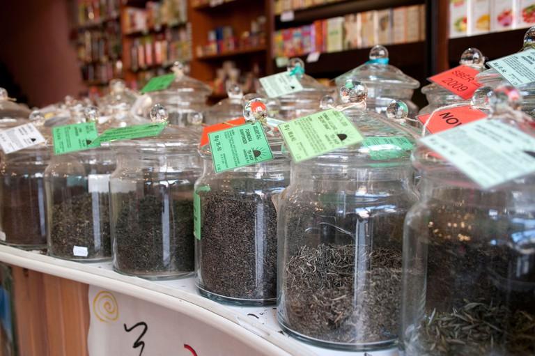 tea jars. Image shot 04/2009. Exact date unknown.